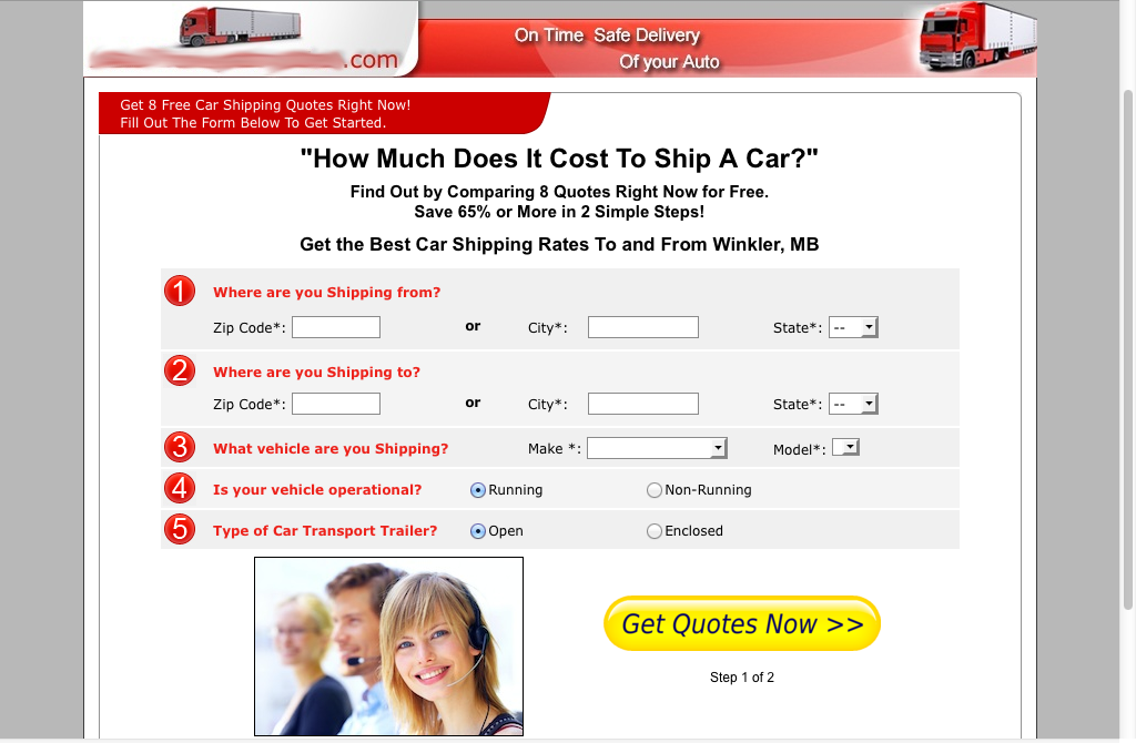 car-shipping-page-before-landing-page-tests