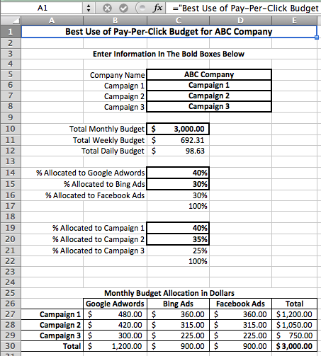 ppc strategy template - thank you
